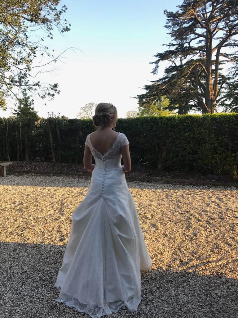 Real Bride Katie in So Sassi Bridal Hayley