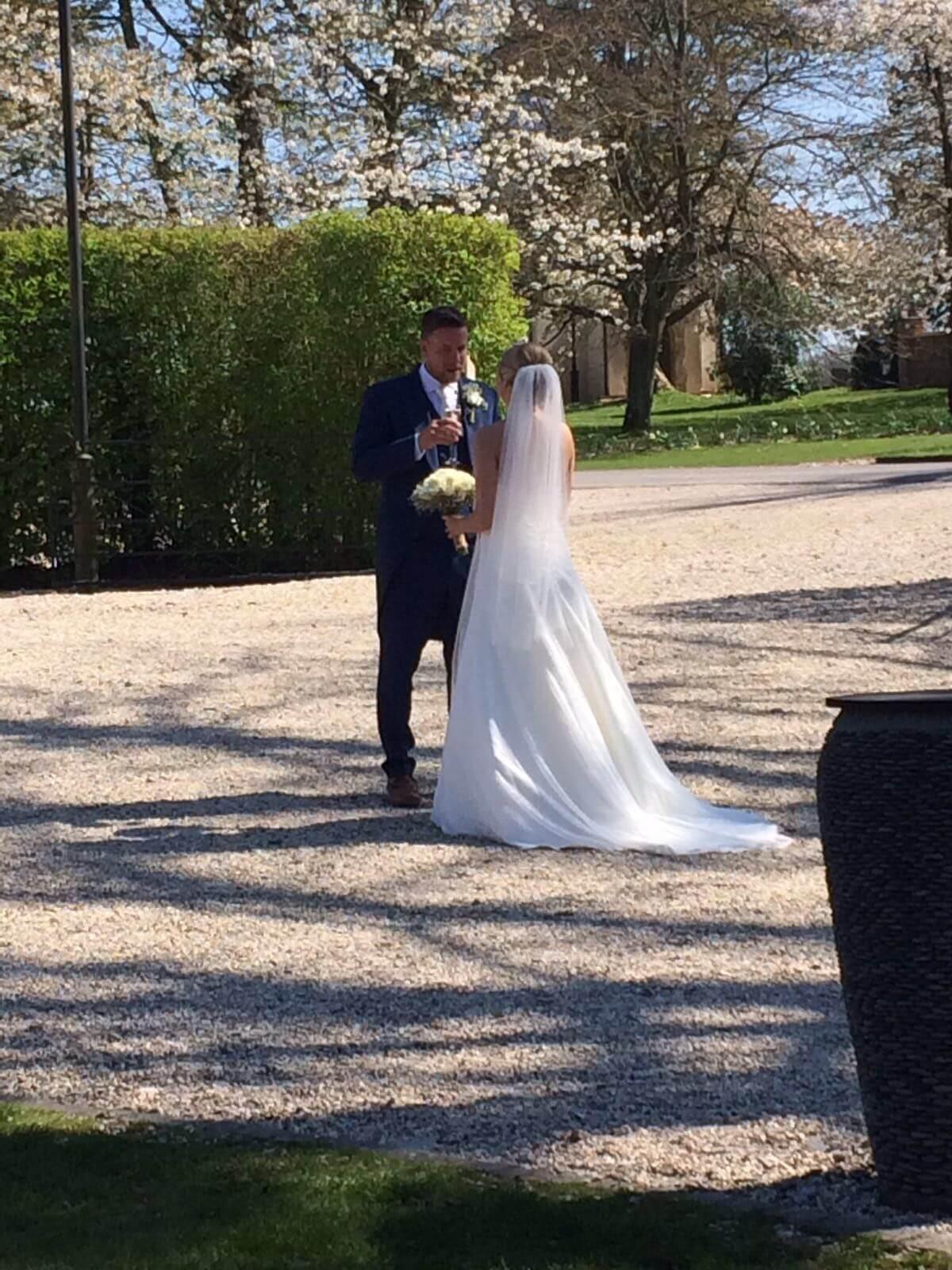 Real bride Katie in So Sassi Hayley