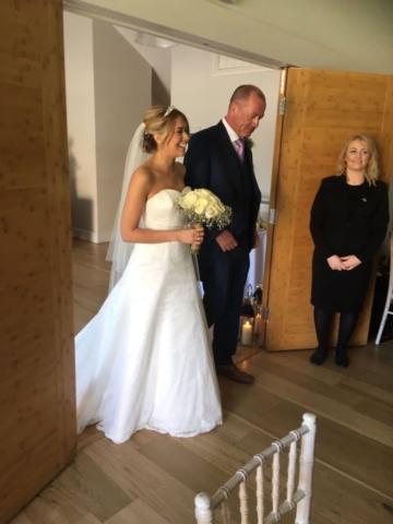 Real bride Katie in So Sassi