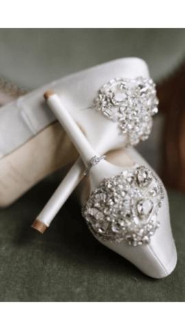 Real Bride Anna - Freya Rose bridal shoes