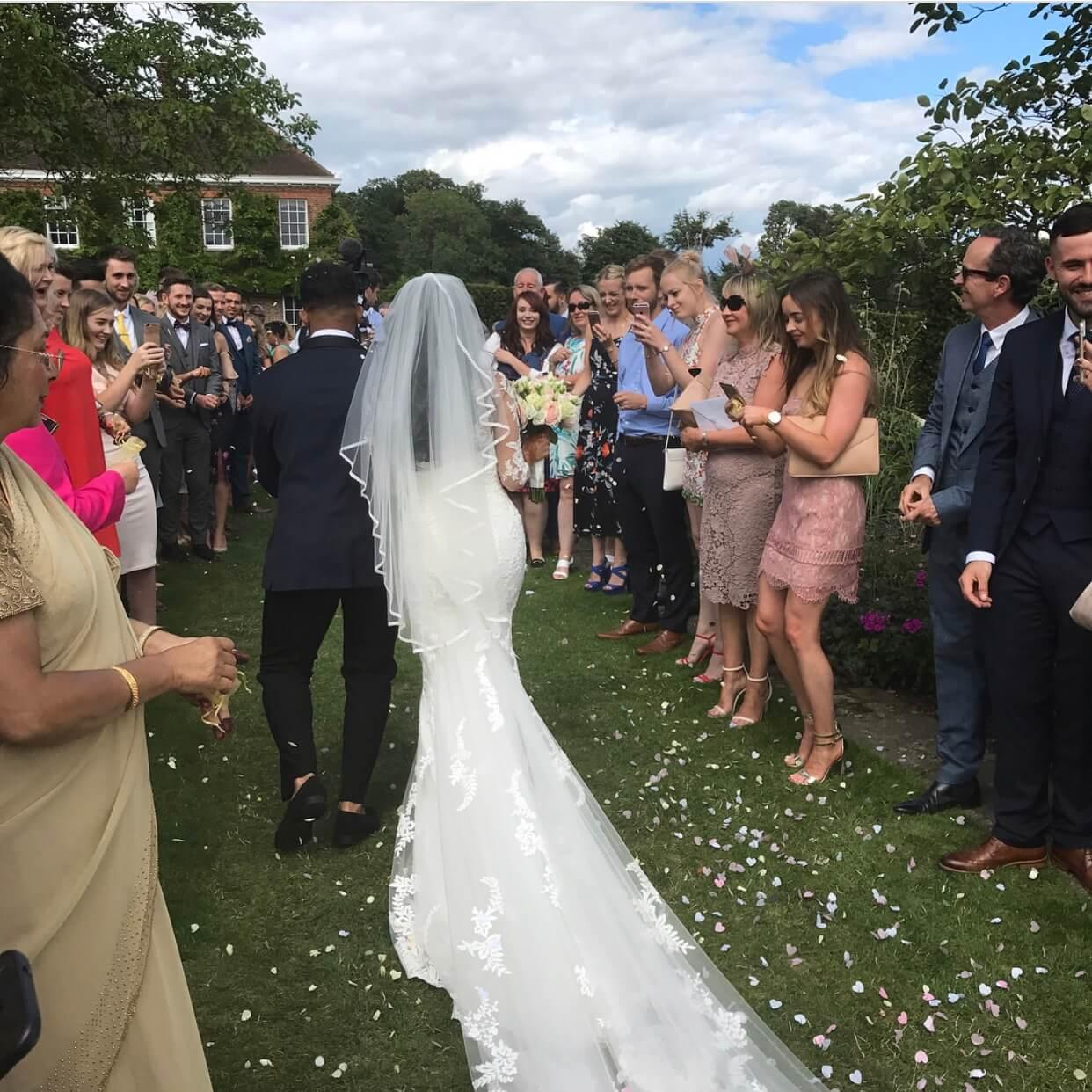 Real Bride Tara in Enzoani